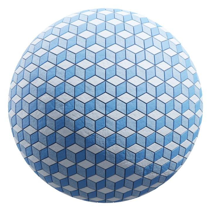 Preview render of the PBR texture 3d Cube Tiles 02