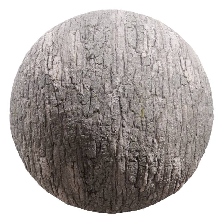 Preview render of the PBR texture Bark 07