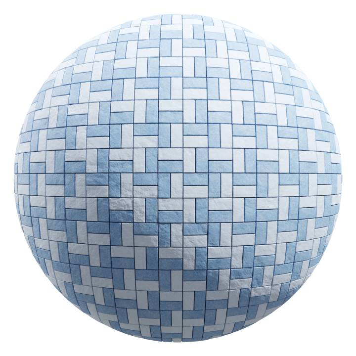 Preview render of the PBR texture Basket Weave Tiles 03
