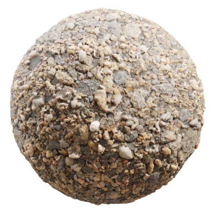 Preview render of the PBR texture Beach Gravel 01