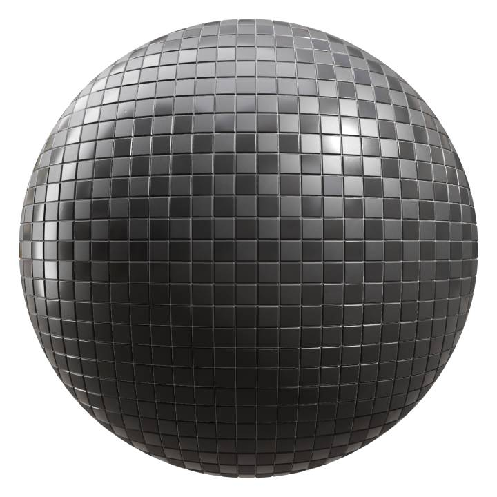 preview render of the free PBR material Black Tiles 05 (cc0 texture)