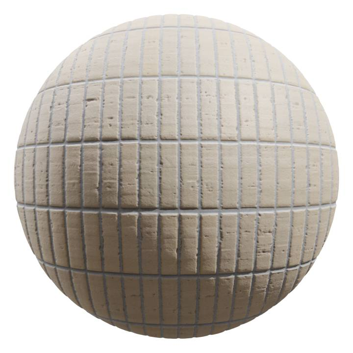 Preview render of the PBR texture Brick Wall 03