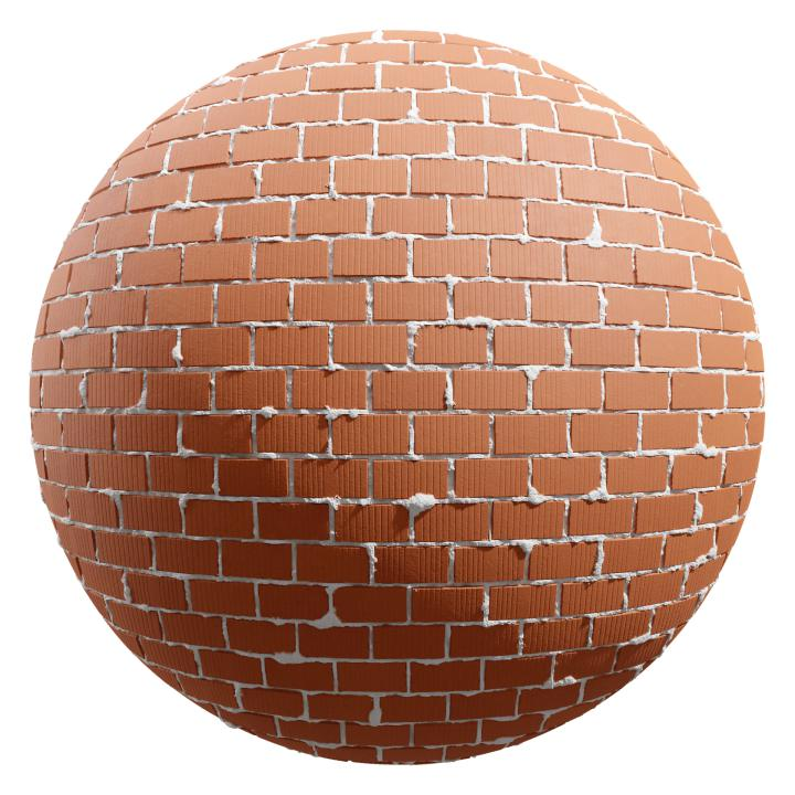 preview render of the free PBR material Brick Wall 04 (cc0 texture)
