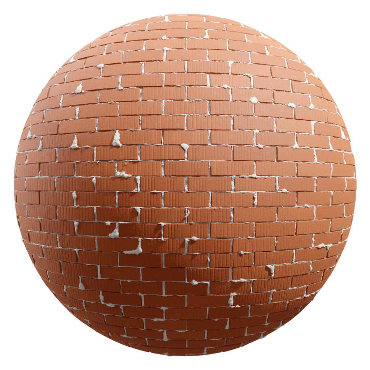 preview render of the free PBR material Brick Wall 05 (cc0 texture)