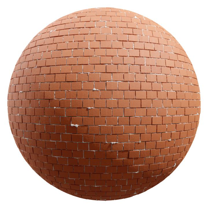 preview render of the free PBR material Brick Wall 06 (cc0 texture)