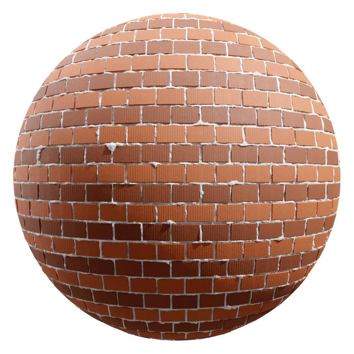 preview render of the free PBR material Brick Wall 07 (cc0 texture)