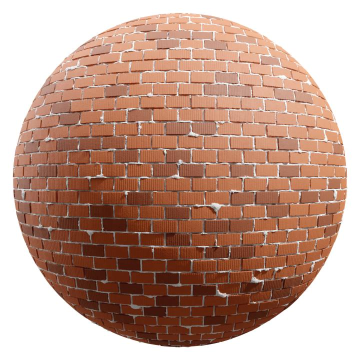 preview render of the free PBR material Brick Wall 08 (cc0 texture)