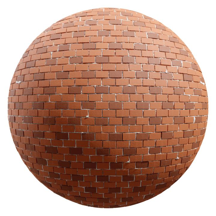 preview render of the free PBR material Brick Wall 09 (cc0 texture)