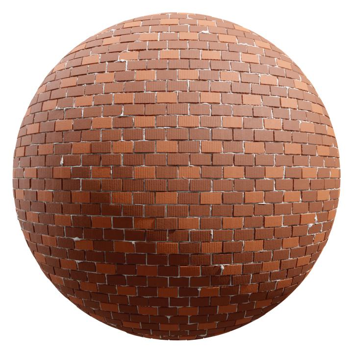 preview render of the free PBR material Brick Wall 10 (cc0 texture)