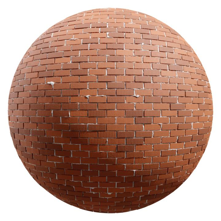 preview render of the free PBR material Brick Wall 12 (cc0 texture)