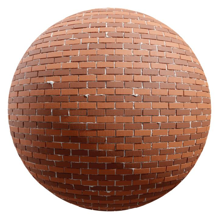 preview render of the free PBR material Brick Wall 13 (cc0 texture)