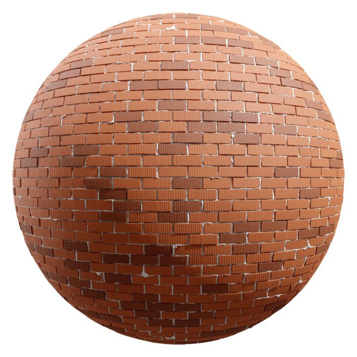 preview render of the free PBR material Brick Wall 14 (cc0 texture)