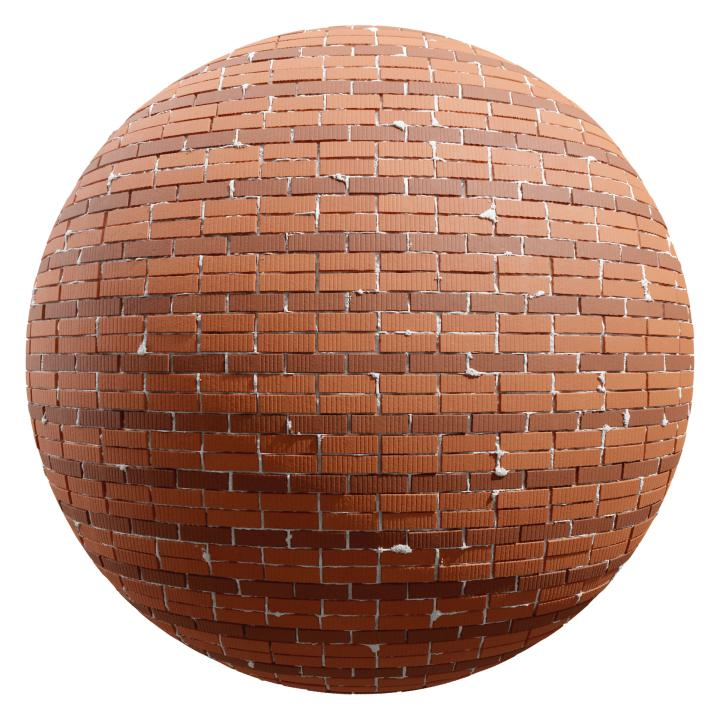 preview render of the free PBR material Brick Wall 15 (cc0 texture)