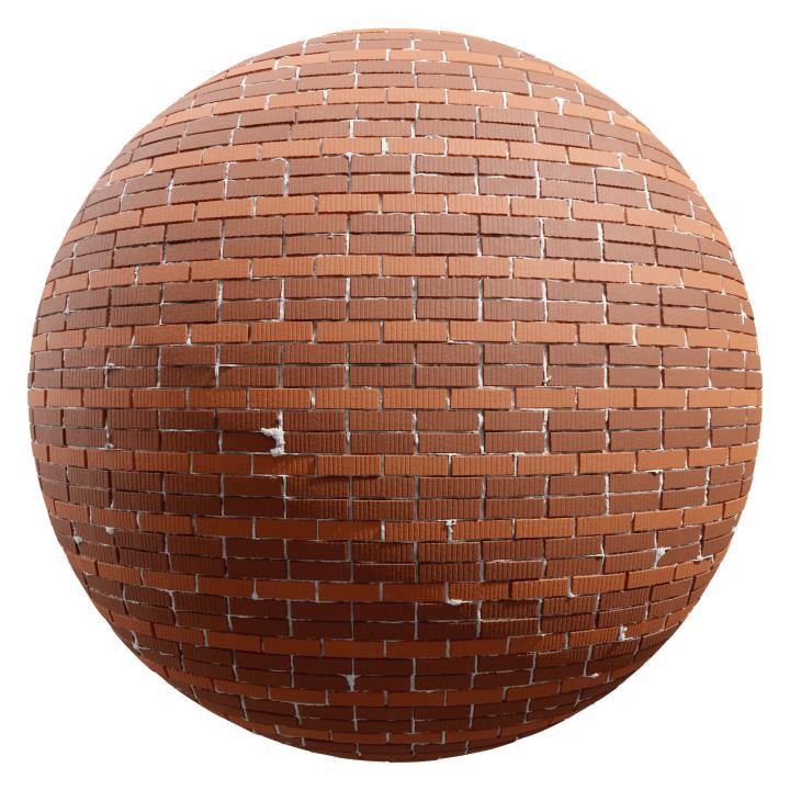 preview render of the free PBR material Brick Wall 16 (cc0 texture)