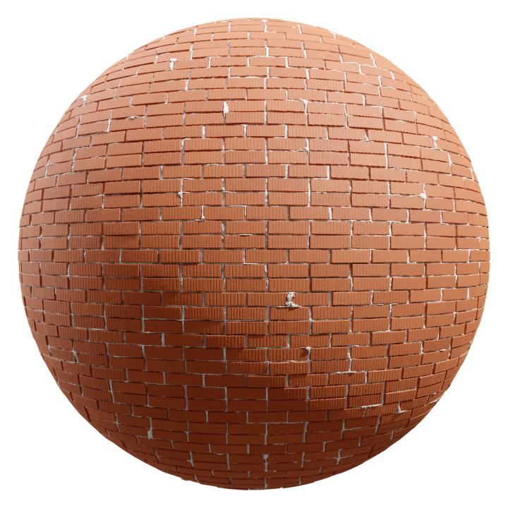 preview render of the free PBR material Brick Wall 17 (cc0 texture)