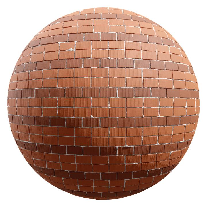 preview render of the free PBR material Brick Wall 18 (cc0 texture)