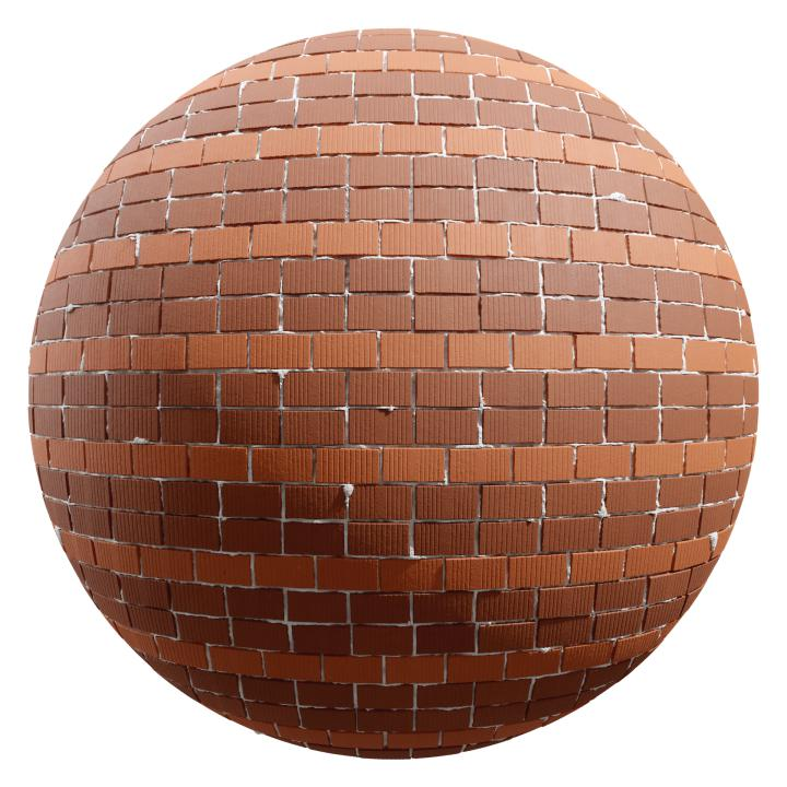 preview render of the free PBR material Brick Wall 19 (cc0 texture)