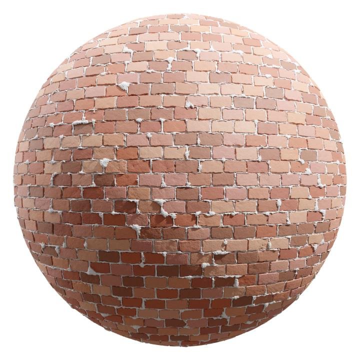 preview render of the free PBR material Brick Wall 20 (cc0 texture)