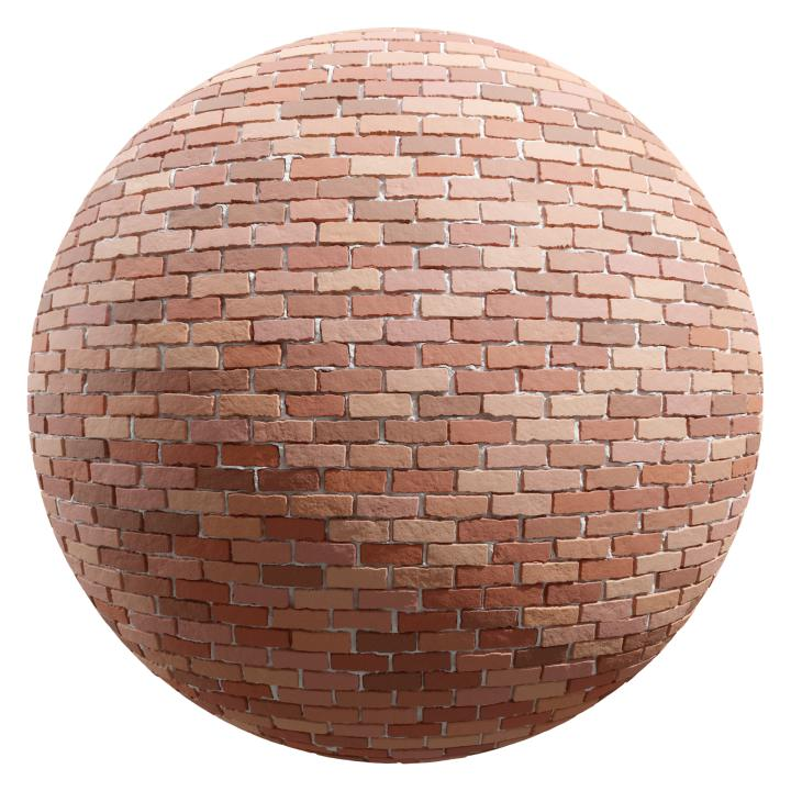 preview render of the free PBR material Brick Wall 22 (cc0 texture)