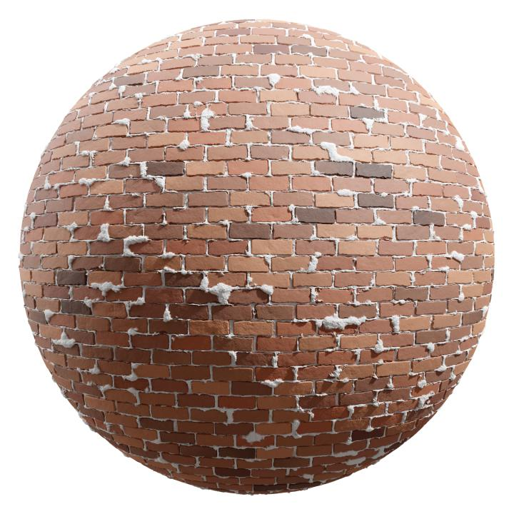 preview render of the free PBR material Brick Wall 23 (cc0 texture)