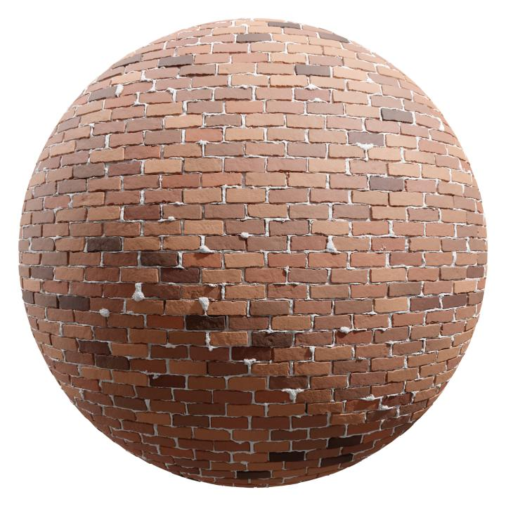preview render of the free PBR material Brick Wall 24 (cc0 texture)