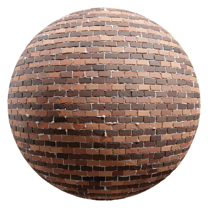 preview render of the free PBR material Brick Wall 26 (cc0 texture)