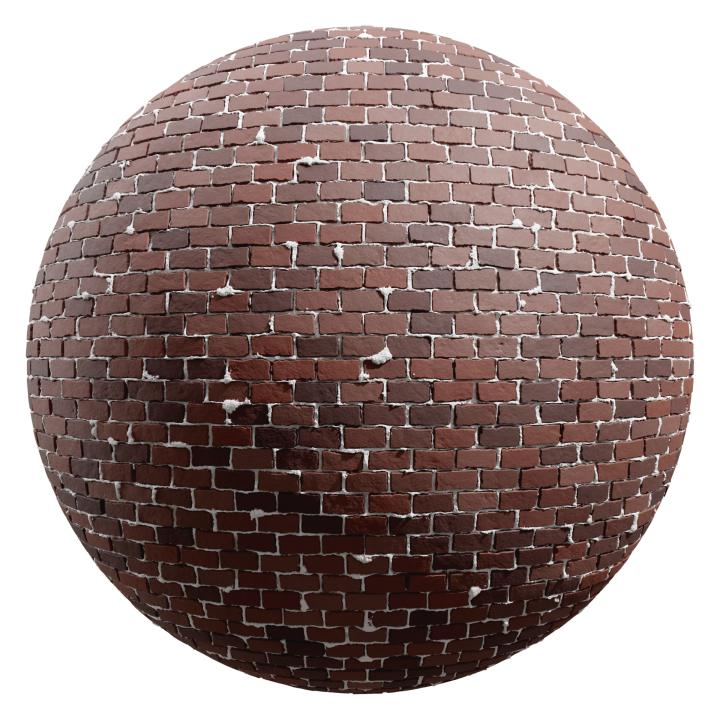 preview render of the free PBR material Brick Wall 27 (cc0 texture)