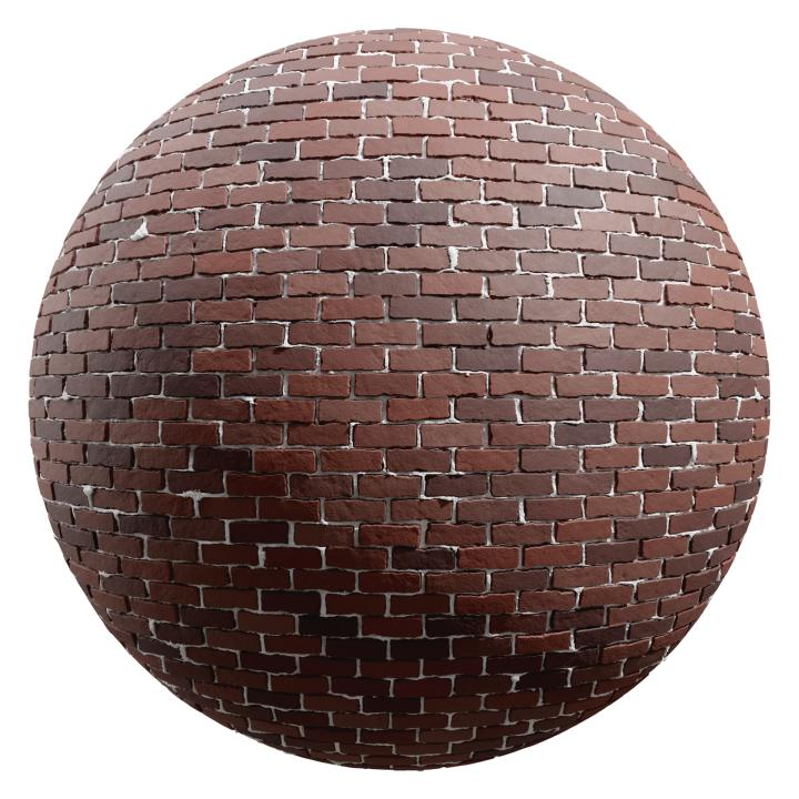 preview render of the free PBR material Brick Wall 28 (cc0 texture)