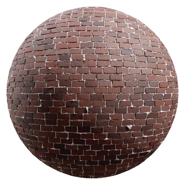 preview render of the free PBR material Brick Wall 29 (cc0 texture)