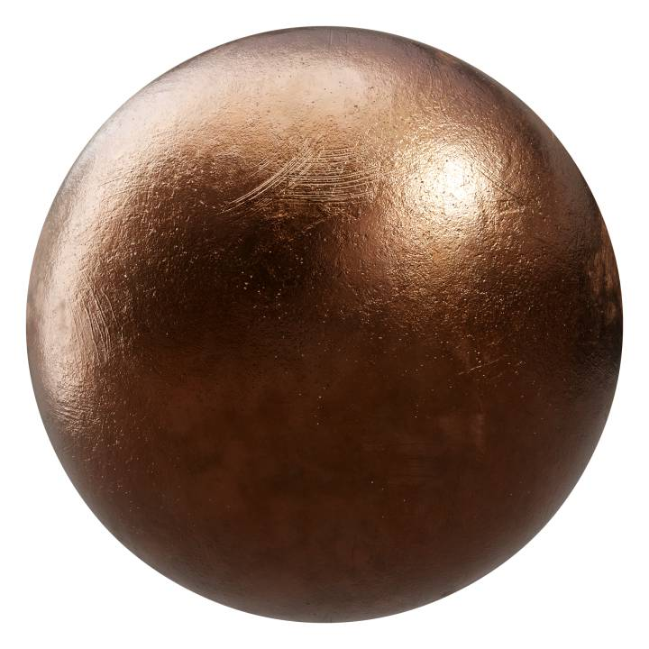 Preview render of the PBR texture Bronze 01