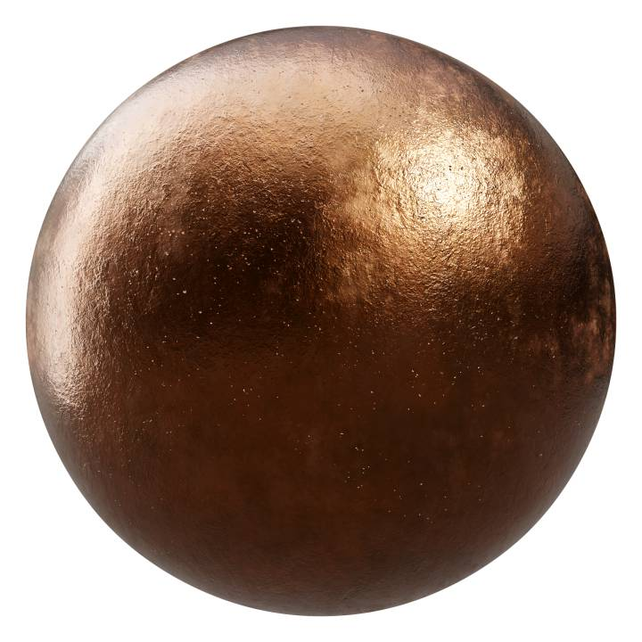 Preview render of the PBR texture Bronze 02