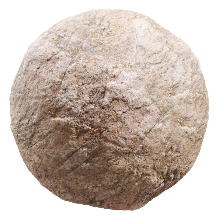Preview render of the PBR texture Brown Rock 03