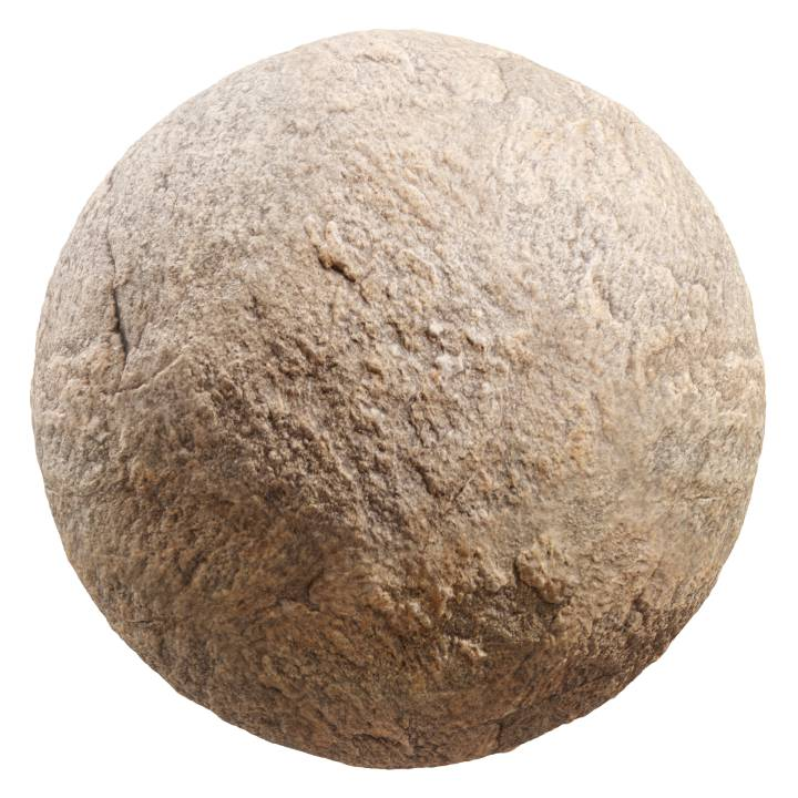 Preview render of the PBR texture Brown Rock 04