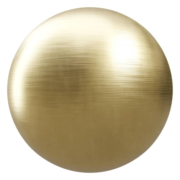 Preview render of the PBR texture Brushed Gold 02