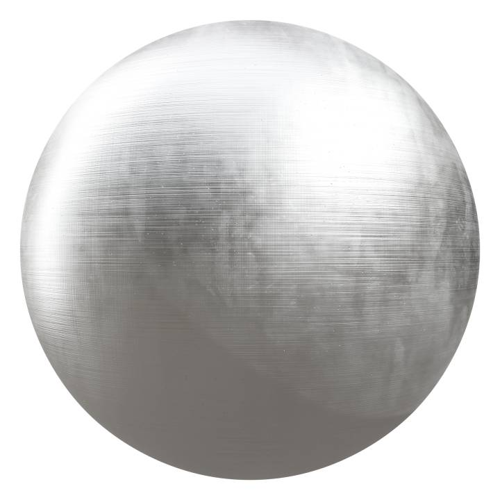 Preview render of the PBR texture Brushed Iron 01