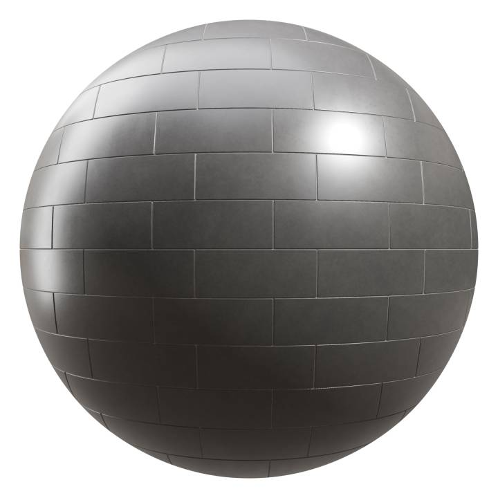 Preview render of the PBR texture Coal Matte Tiles 01