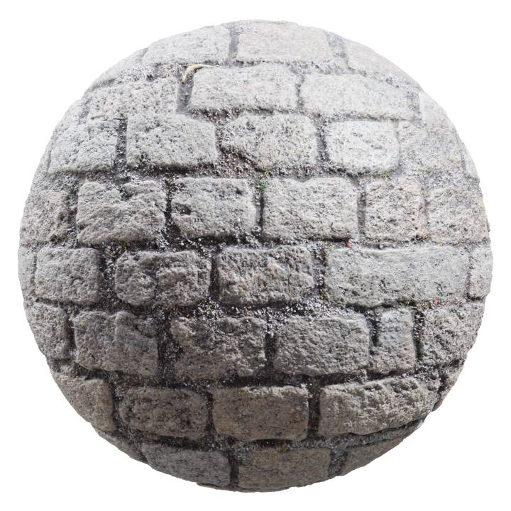 Preview render of the PBR texture Cobblestone 01