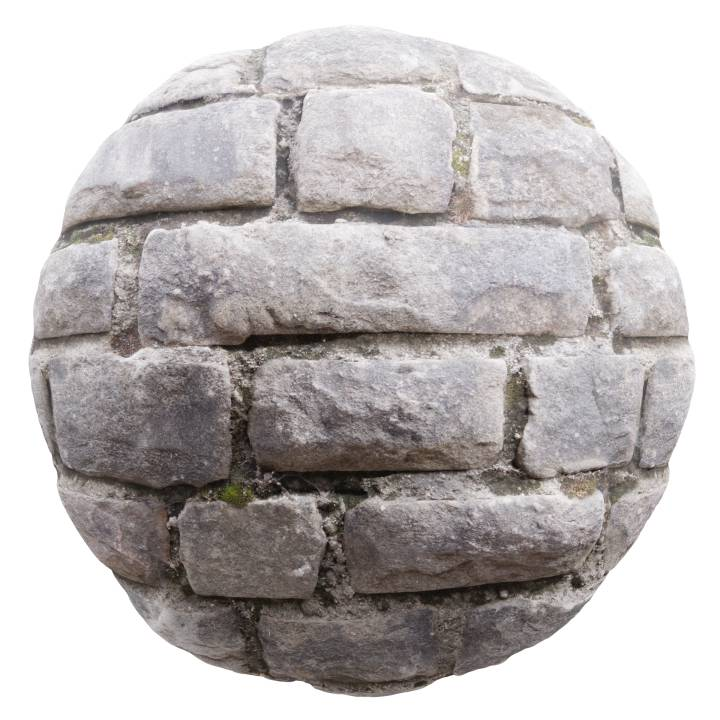 Preview render of the PBR texture Cobblestone 03