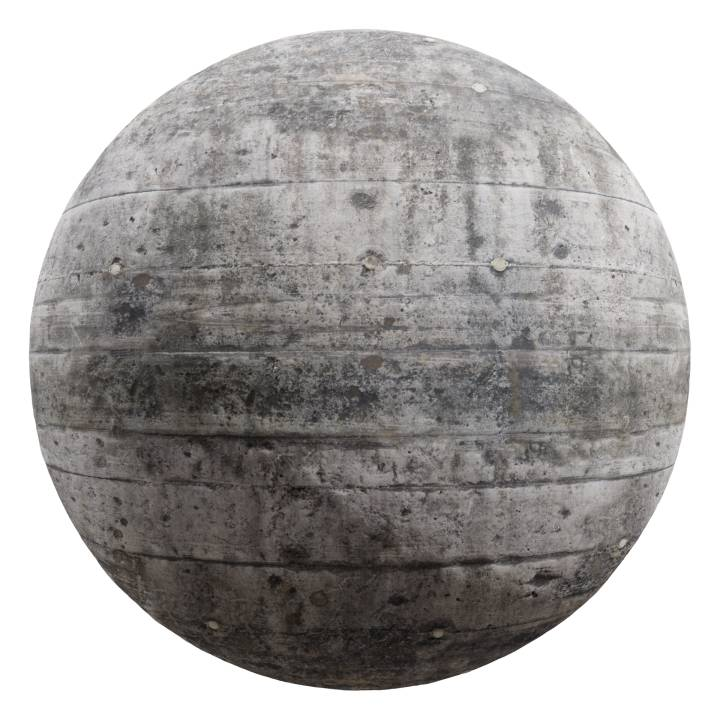 preview render of the free PBR material Concrete Wall 02 (cc0 texture)