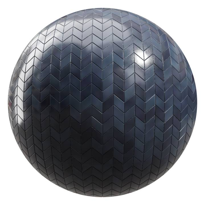 Preview render of the PBR texture Dark Ocean Tiles 05
