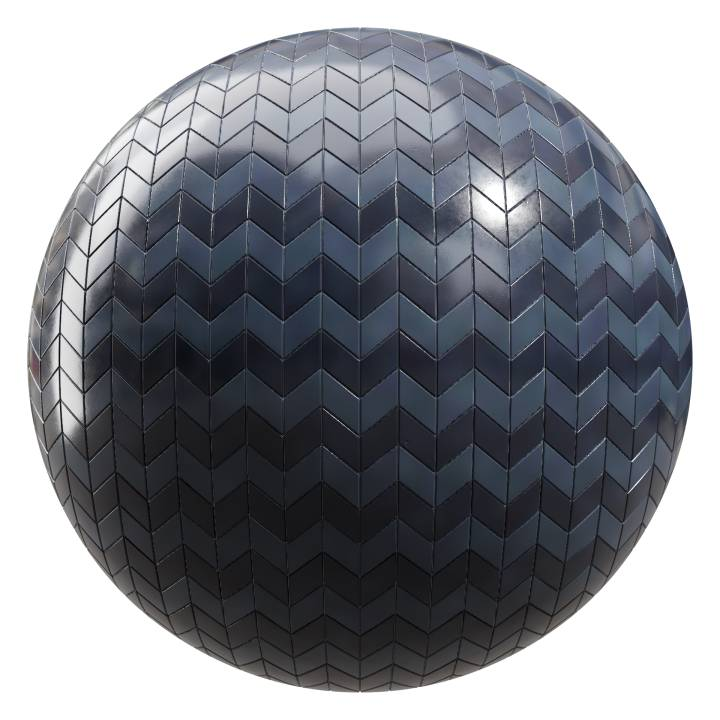 Preview render of the PBR texture Dark Ocean Tiles 06