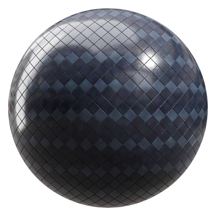 Preview render of the PBR texture Dark Ocean Tiles 07