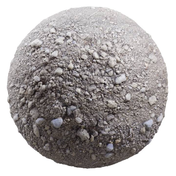Preview render of the PBR texture Dirt 01