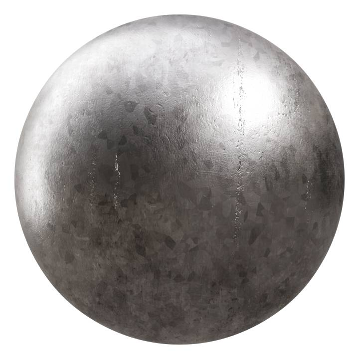 Preview render of the PBR texture Galvanized Steel 01