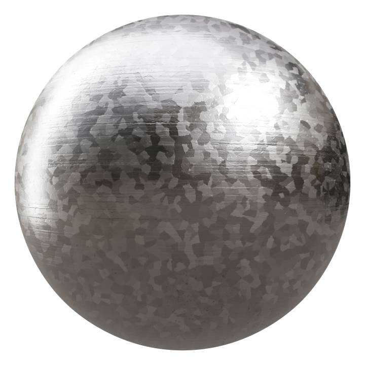 Preview render of the PBR texture Galvanized Steel 02