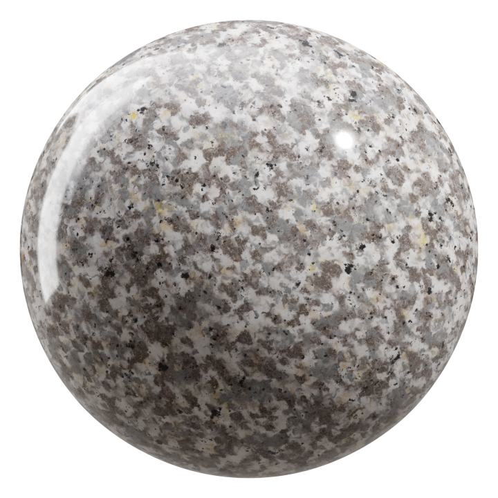 preview render of the free PBR material Granite 01 small (cc0 texture)