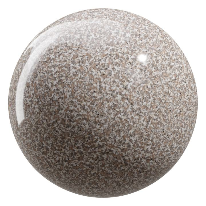 preview render of the free PBR material Granite 02 large (cc0 texture)