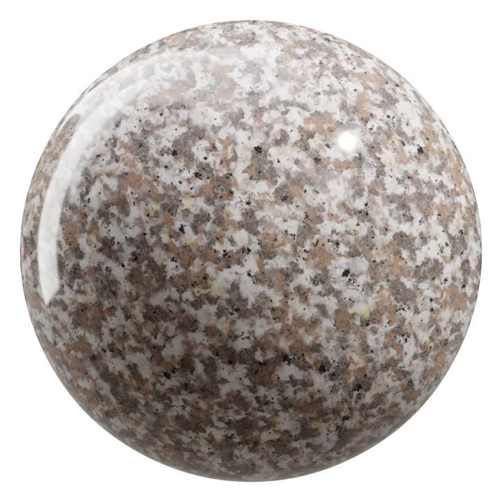 preview render of the free PBR material Granite 02 small (cc0 texture)