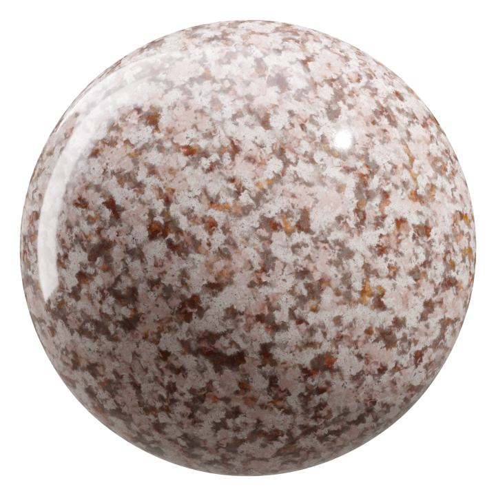 preview render of the free PBR material Granite 04 small (cc0 texture)