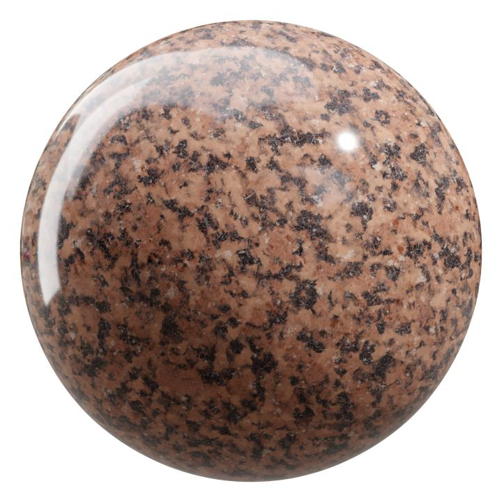 preview render of the free PBR material Granite 05 small (cc0 texture)